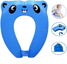 Portable Potty Seat with Splash Guard for Boys, Folding Travel Potty Seat for Toddler, Baby and Kids, Recyclable Non-Slip Silicone Pads Toilet Training Seat Cover