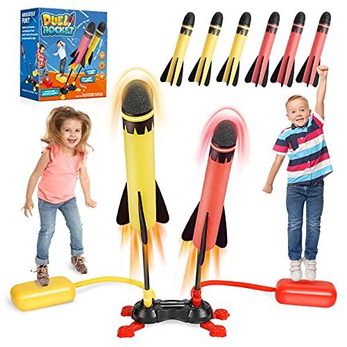 Dreaming box Outdoor Spielzeug, Rakete Spielzeug ab 5 Jahre Junge Geschenk Mädchen Junge 5 Jahre Spiele ab 5 Jahren Garten Spielzeug Kinder Spielzeug Jungen Mädchen Geschenke für Kinder