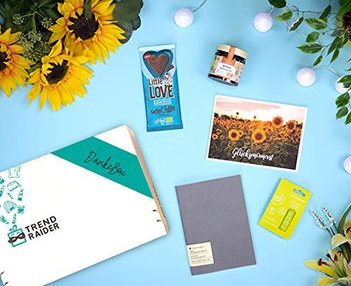 TrendRaider DankeBox, vegan, Geschenkset, GeschenkBox, Dankeschön Geschenk