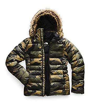 The North Face Women's Gotham Jacket II, Burnt Olive Green Waxed Camo Print, Medium