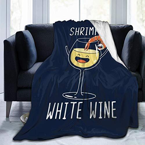 Nujshf Flanell-Überwurf, für Garnelen- und Weißwein, leicht, ultraweich, warm, für Sofa geeignet