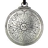 Pewter Key of Solomon Pentacle of Mercury Talisman Pendant