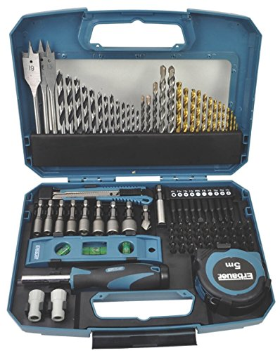Erbauer 100 Piece Drill bit Set Complete kit Multi Material Mixed Drill and Screwdriver setpiece