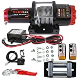 X-Bull 12V Electric Winch 4500LBS/2045KG Steel Cable with Mounting Plate Wireless Remote