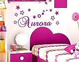 adesivo murale nome personalizzato wall stickers personalizzato decorazione cameretta bambina adesivi murali nome