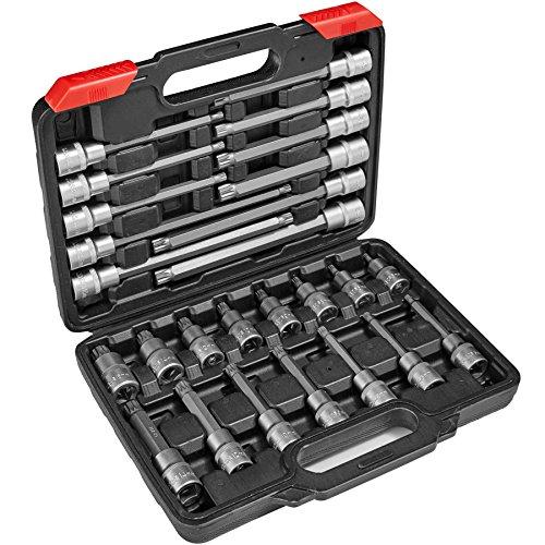 TecTake Vielzahn Steckschlüsselsatz | Chrom-Vanadium-Stahl | inkl. Koffer - diverse Modelle - (Typ 1 | Nr. 402692)