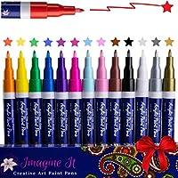 Set of 14 Imagine It Art Acrylic Paint Pens