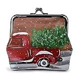 Camion rosso in pelle squisita fibbia portamonete portamonete sacchetto vintage classico porta-bacio portafogli per borsa regalo