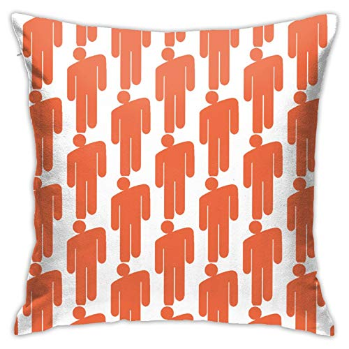 WHFUDSHF Billie Bad Guy Eilish Fashion Pillow Cover 18inch Super Soft Decorative for Sofa Couch or Bed