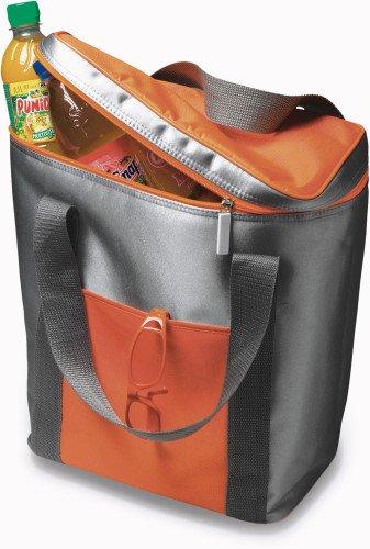 notrash2003 1 Grande Poche Isotherme-capacité : pour 6 x 1,5 l, Bouteilles, avec Fermeture éclair Cordon de Serrage 36,0 x 28,5 x 16,5 cm (Orange)