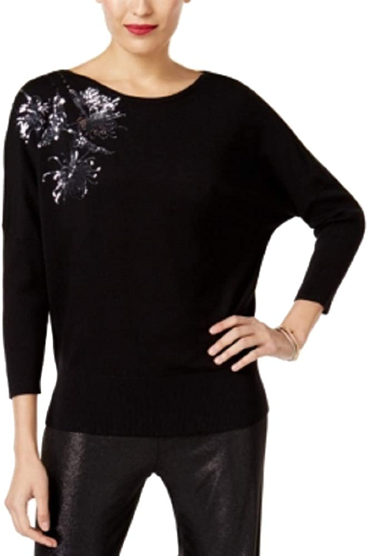 Alfani Petite Embellished DolmanSleeve Sweater