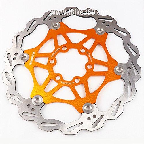Disco de freno para bicicleta de montaña, 160 mm, disco flotante, rotores para MTB, disco de freno (dorado)