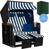 Kesser® - Strandkorb Premium incl. Schutzhülle 2 Sitzer XXL Gartenliege Sonneninsel ideal für...