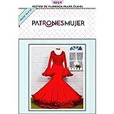 Patrón de costura vestido flamenca Clavel para hacerlo tú misma. Tutorial en vídeo para ayudarte a realizarlo. Talla 36 a la 52. Patrón multitalla en papel.