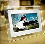 TuPuCN 7 Inch TFT LCD Wide Screen Digital 2000 Photos Display Frame with Calendar Support Tf Sd/Sdhc/USB Flash Drives- Support 32GB SD Card