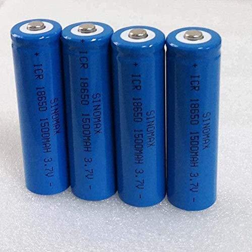 8pcs 3.7 V 1500mAh 18650 Batteria al litio ricaricabile per torcia elettrica Torcia elettrica Torcia LITIUM-ION