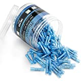 200PCS Blue Heat Shrink Butt Connectors 16-14 AWG, Plustool Waterproof Butt Connectors Electrical Butt Wire Connectors Insulated Marine Crimp Splice Automotive Wire Terminals Kit