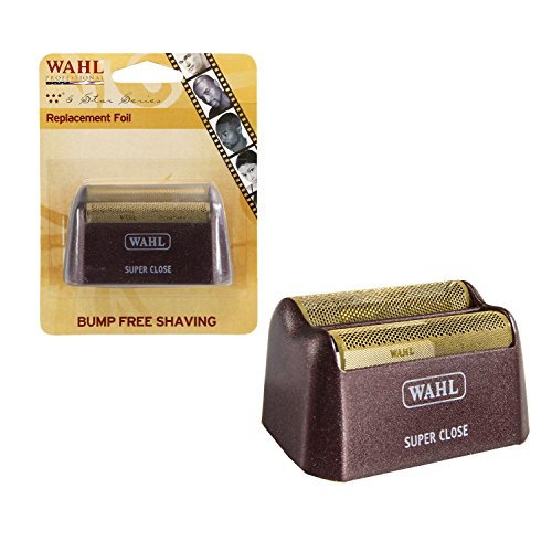 Wahl Professional 5 Star Series Shaver Shaper Replacement Super Close Gold Foil for Professional Barbers and Stylists - Model 7031-200