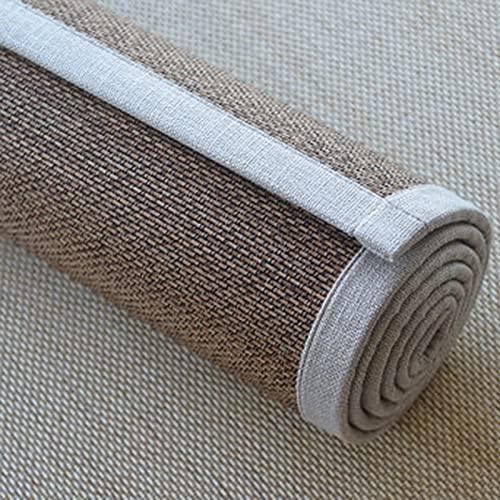 LSM Alfombra Bambú Corredor de Alfombra de Bambú Rústico, Pasillo Interior, Entrada de Cocina, Alfombra, Almohadilla para el Piso de Verano, Suave Alfombra de Yoga, 60/80/100/120 cm de Ancho