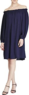 AMERICAN LIVING Womens Navy Long Sleeve Off Shoulder Above The Knee Tunic Tunic Party Dress US Size: 4