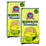 Brown Rice Noodles - Vermicelli - Fine - All Natural, No Preservatives - Gluten-Free, Vegan - OU-Kosher - 8.8 Oz (2-Pack)
