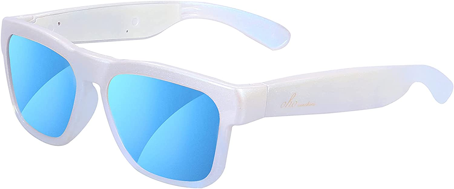 OhO Audio Sunglasses, Voice Control and Open Ear Style Listen Music and Calls with Volumn UP and Down, Bluetooth 5.0 and IP44 Waterproof Feature for Indoor and Outdoor