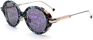 Gafas de sol unisex Delicadas gafas de sol para mujer Marco de impresión Gafas de sol con borde de plástico Gafas de sol estilo clásico para hombre Conducción Color chapado en lente Gafas de sol Color