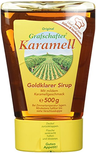 Grafschafter Karamel Sirup Dosierflasche, 8er Pack (8 x 500 g Flasche)