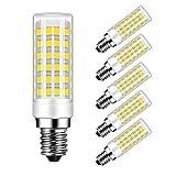 Bombillas LED E14 9W Equivalente a Lámpara Halógeno de 75W, 750 Lúmenes, CRI80, Blanco Frío 6000K, No Regulable, 5 Unidades