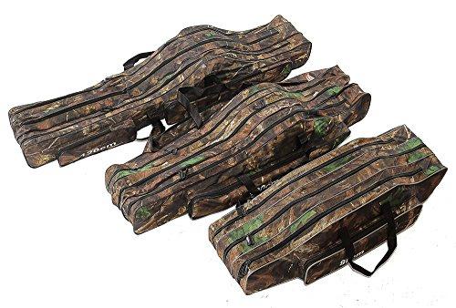 KANANA Angeltasche Rutentasche Rutenfutteral Angelkoffer Anglertasche Tasche (Tasche3fach) (130cm Länge)