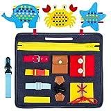 Gvoo Giocattoli Educativi Montessori Busy Board per Bambini , Giochi Bambini 1 2 3 4 Anni�...