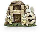 TREEECFCST Decoration Exterieur Statue Artisanat d'art personnalisé, décorations de Jardin pour clôture décoration de Maison de pâques, Cadeaux de décoration de Vacances chrétiennes Fairy Garde