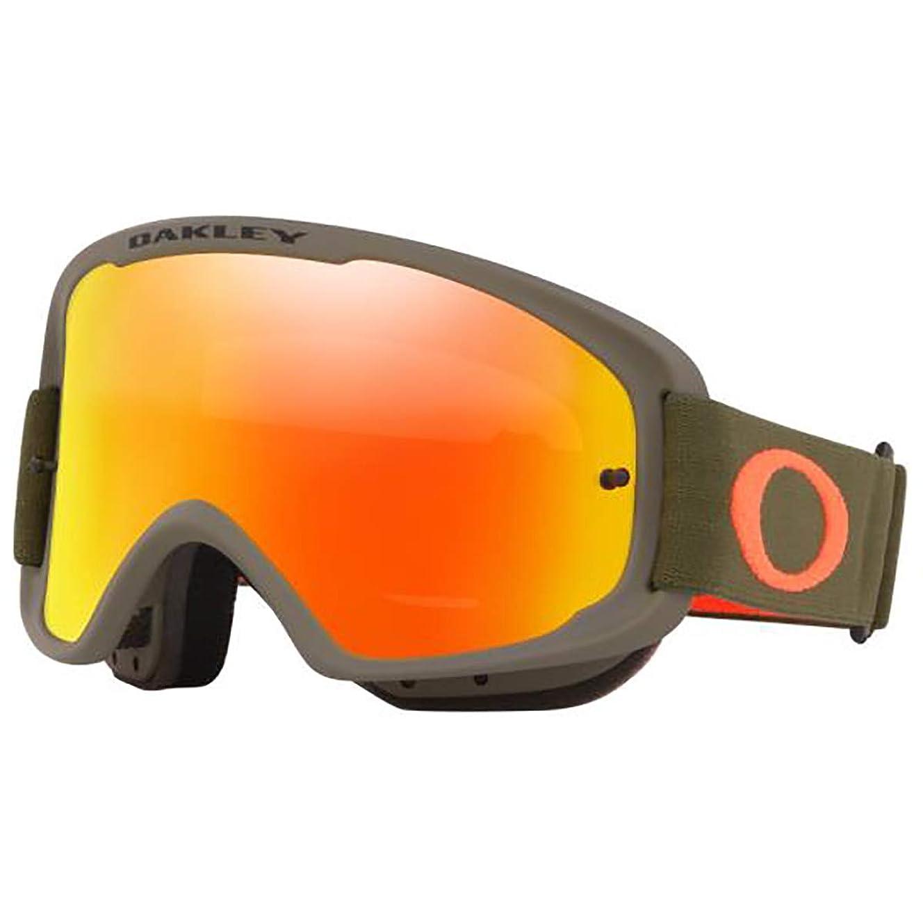 Oakley O-Frame 2.0 Men's MTB Off-Road Cycling Goggles - Dark Brush Orange/Fire Iridium & Clear/One Size