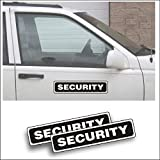 Magnet Magnetic Sign - Security for Grounds Patrol Guard Police Vehicle, Car or Truck - 3 x 14 inch Block Sold as Pair
