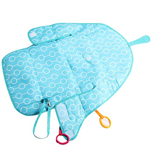 3-en-1 Couche-Culotte à Langer Pad Multifonctionnel Portable Infantile Bébé Pliable Tapis D'urine Étanche Nappy Sac Voyage en Plein Air,bluecircle