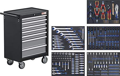 BGS 4060 | Werkstattwagen | mit 243 Werkzeugen | 7 Schubladen | gefüllt | abschließbar | massives Metall