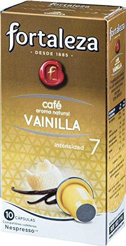 Café FORTALEZA - Cápsulas de café con Aroma Vainilla Compatibles con Nespresso - Pack de 10 Cápsulas