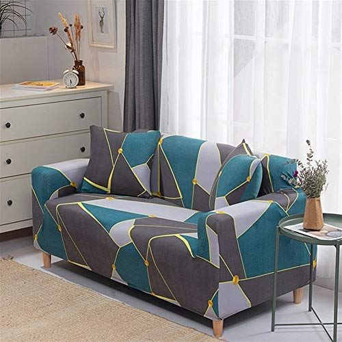 Funda de sofá HNXCBH 1pc Spandex moderna funda de sofá elástico floral poliéster 1/2/3/4 plazas sofá funda para salón muebles protector