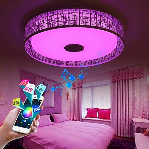 Led-muziek plafond licht met bluetooth luidspreker, meerdere kleurwisseling via smartphone app, plafondbediening, kinderkamerverlichting