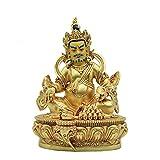 YYAI-HHJU Feng Shui Decor Exquisitos Adornos De Buda Pintados A Mano Feng Shui Cobre Dios De La Riqueza Estatua Apertura De Negocios Estatua De Decoración del Hogar