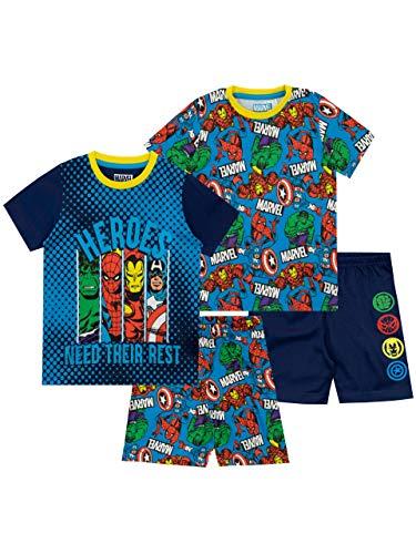 Marvel Pijamas de Manga Corta para niños 2 Paquetes Multicolor 4-5 Años