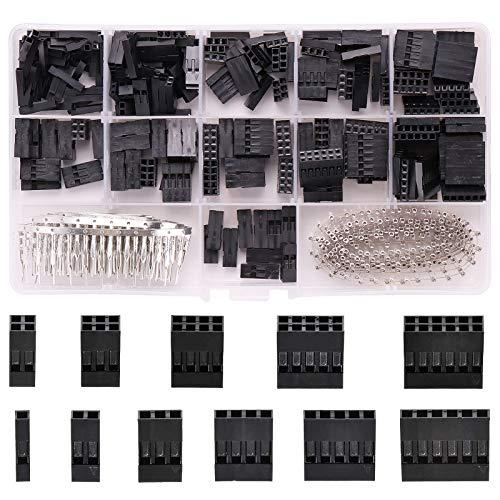 Rantecks 620 STÜCKE Crimpstift-Steckverbinder Kabelstift-Header-Gehäusesatz Stecker Buchsen Crimpstifte Kit für Kabelverbindungen für die Computerkonstruktion