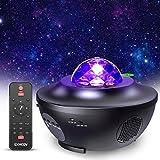 Proyector de Luz Estrellas Galaxia, Lámpara Giratorio de Mesa Infantil con 21 Modos & Control Remoto & Temporizador &...