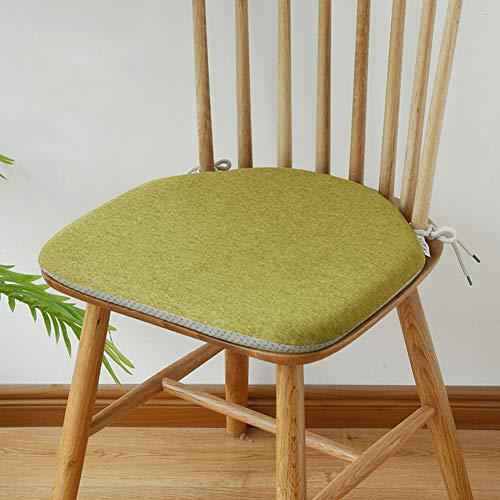 YANNI Hufeisen Stuhl Kissen, High Rebound-speicherschaum Windsor Stuhl Pad Nicht-Slip Sitzkissen Garten Sessel Mat Mit Krawatte-grün 42x38cm(17x15inch)