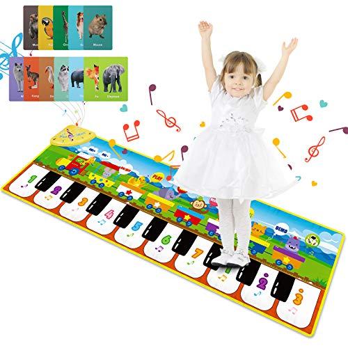 Magicfun Tapis de Piano Enfants, Tapis Musical Bébé Jouets avec 8 Sons d