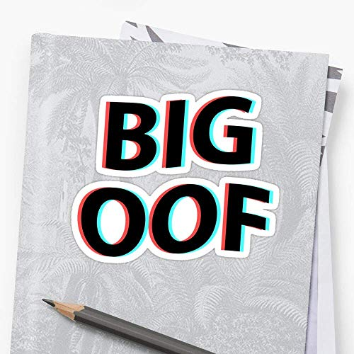 Big OO-F Sticker Stickers Perfect for Water Bottle,Laptop,Phone, Extra Durable Vinyl Decal (3 Pcs/Pack)