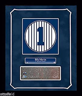 BILLY MARTIN OLD YANKEE STADIUM MONUMENT PARK #1 BRICK 14x18 FRAMED GAME USED NY RETIRED NUMBER PLAQUE