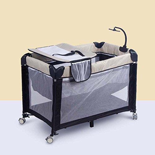 Ali@ Table à langer, lit de bébé européen, lit de jeu de maille respirable, lit pliant de station de changement de roue