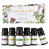 ASAKUKI Aromatherapy Essential Oils includes Lavender, Eucalyptus, Lemongrass, Tea Tree, Sweet Orange