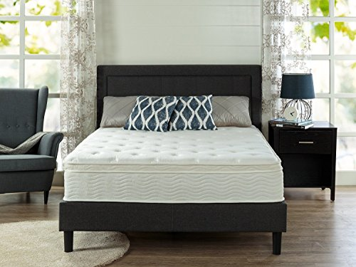 Zinus Ultima Comfort 12 Inch Euro Box Top Spring Mattress, Full
